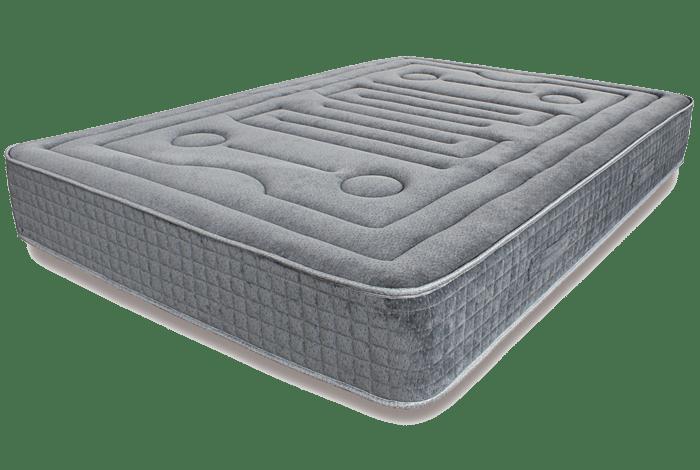 Colchón tejido terciopelado de gran calidad en viscogel gran confort VELOUR - Makro Mueble