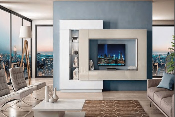 Composición de salón ultra moderna - Makro Mueble
