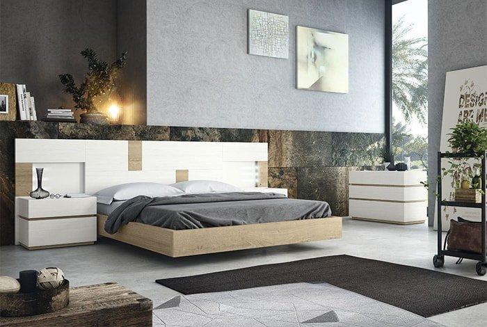 Dormitorio matrimonio linea rustica nature - Makro Mueble