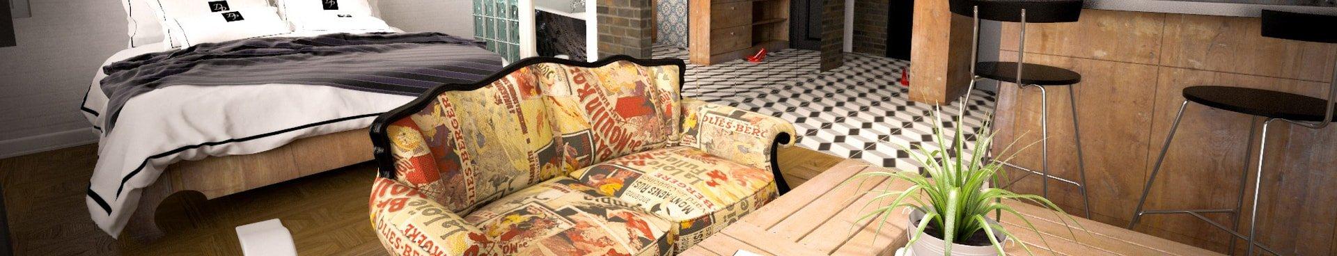 imagen larga de salon makro mueble