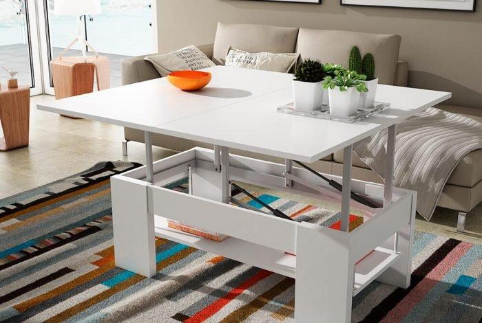 Mesa de centro 110x60 convertible en mesa comedor - MakroMueble