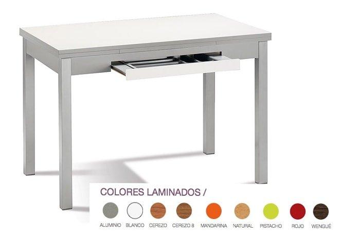 Mesa de cocina extensible con alas 100x60 - 160x60. Varios colores - MakroMueble