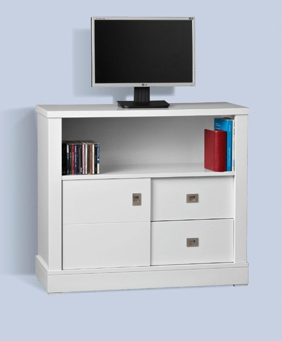 Mesa tv color blanco 73x83x35. Varios colores - MakroMueble