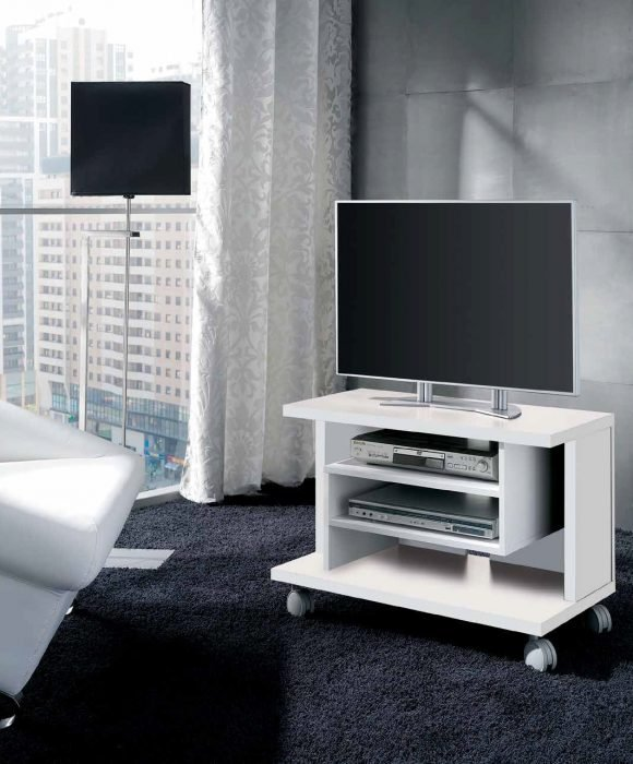 Mesa tv con ruedas color blanco. Colores variados - MakroMueble