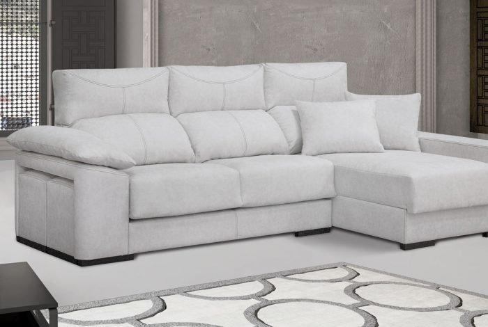 Sofá con chaise longue. Varios colores y telas - MakroMueble