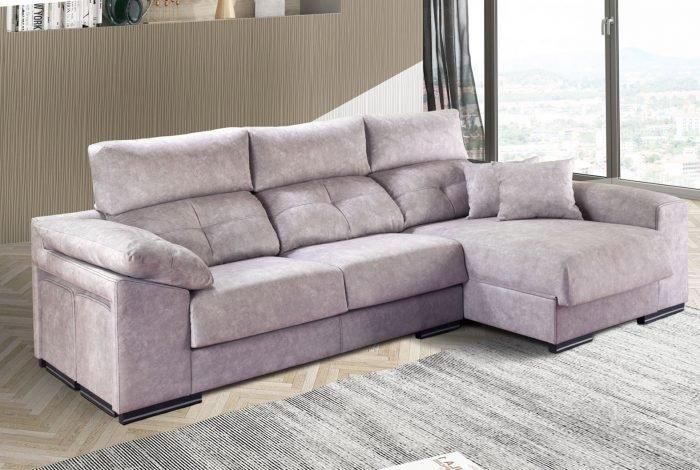 Sofá con chaise longue. varios colores, telas y medidas - MakroMueble