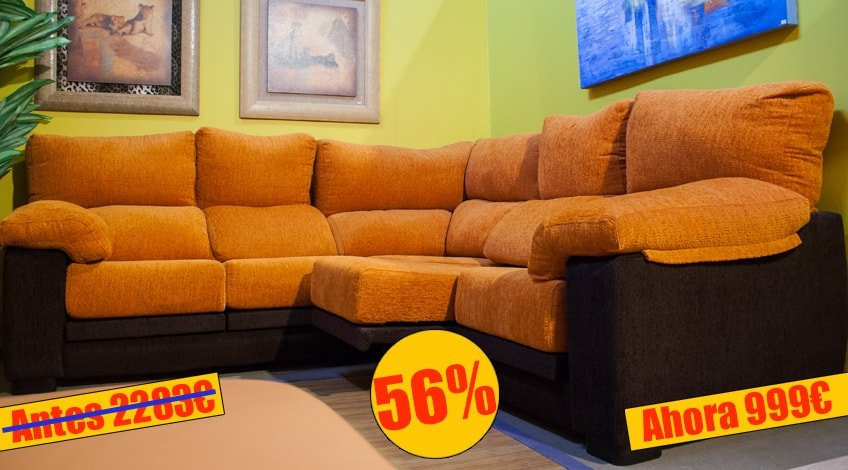 sofa rinconera en tela - MakroMueble
